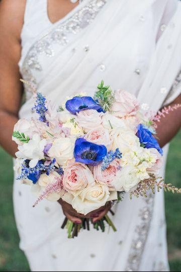 Light colored bouquet