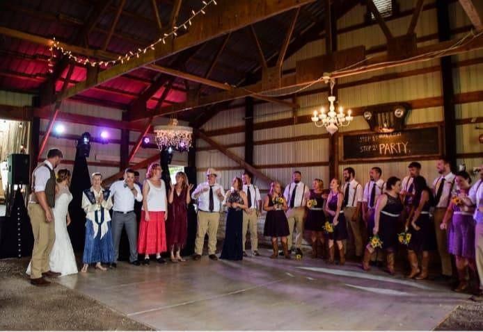 Reception barn Dance floor