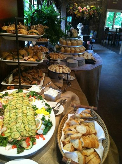 burlap buffet