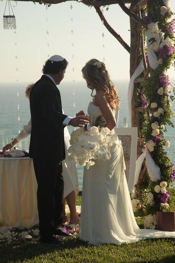 Ceremony overlooking the ocean