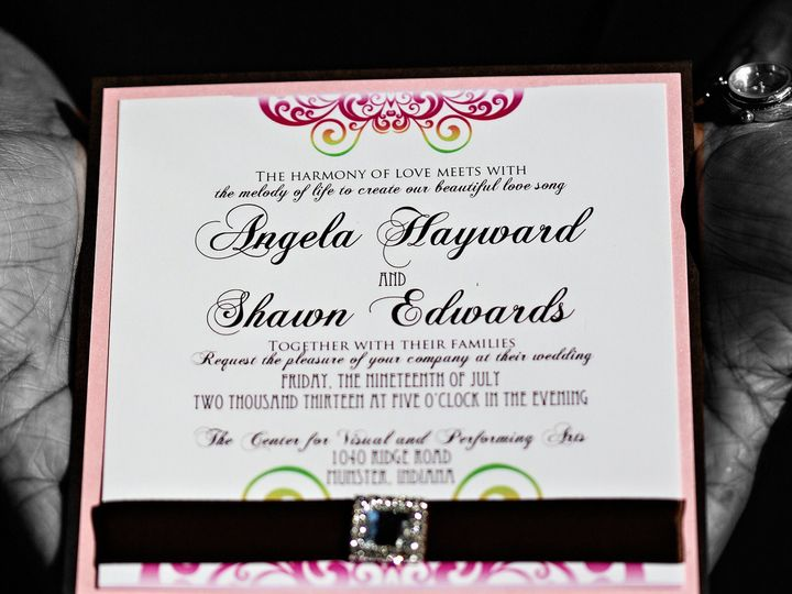Tmx 1466782642845 Edwards Wedding 101 Park Forest, IL wedding invitation