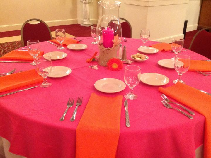 Tmx 1379782191479 Pinkorangewedding2 Blue Bell wedding catering