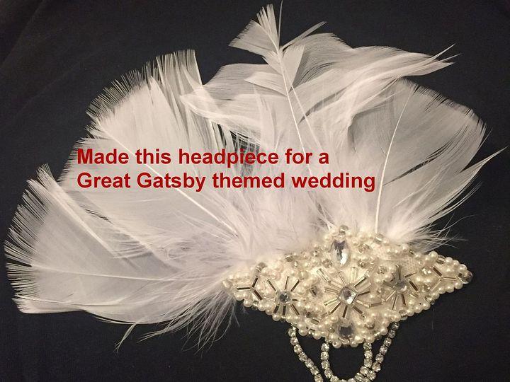 Tmx Headpiece Gatsby 51 1938879 159771638420994 Glen Oaks, NY wedding dress