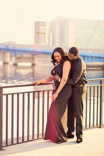 Black wedding dress, jacksonville Fl, Friendship Fountain, Cynthia Viola Photography,