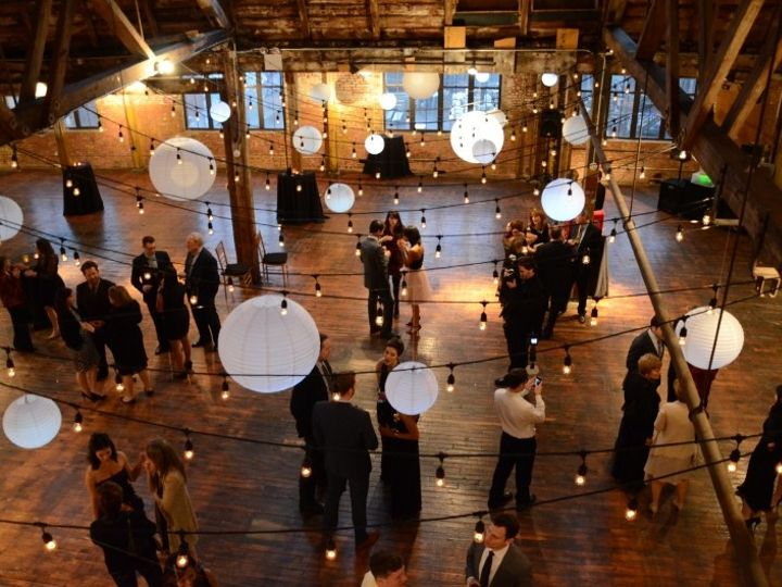 Tmx 1443323352669 Thegreenpointloft Stringlights Lanterns March 29 2 New York wedding rental