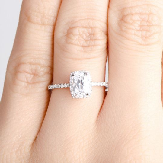 Radiant Dainty Engagement Ring