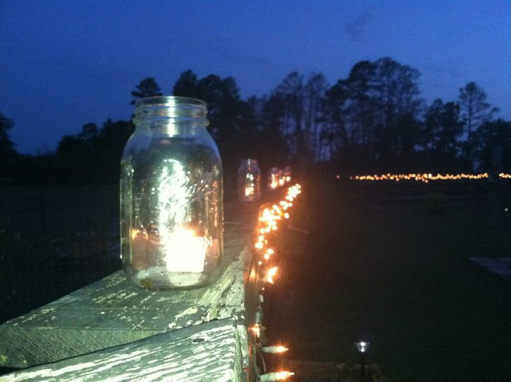 fence line mason jars