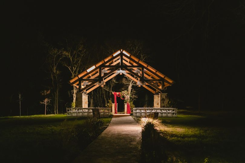 Ceremony Site at night