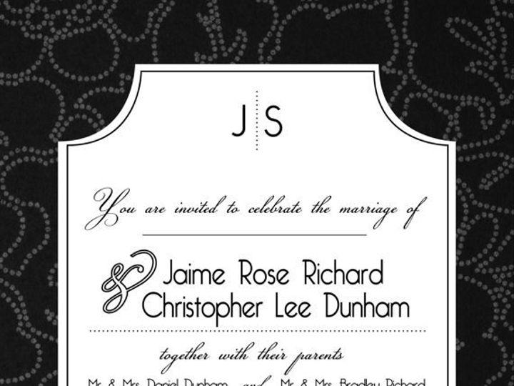 Tmx 1364407797320 Blackwhiteverticalsuite Fresno wedding invitation