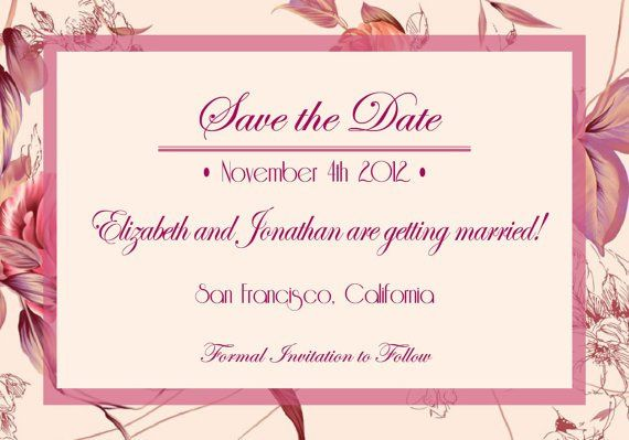 Tmx 1364407807578 Floralmauvesavethedate Fresno wedding invitation