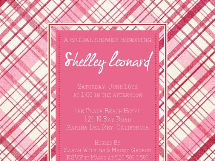 Tmx 1364407821271 Pinkplaidinvite Fresno wedding invitation