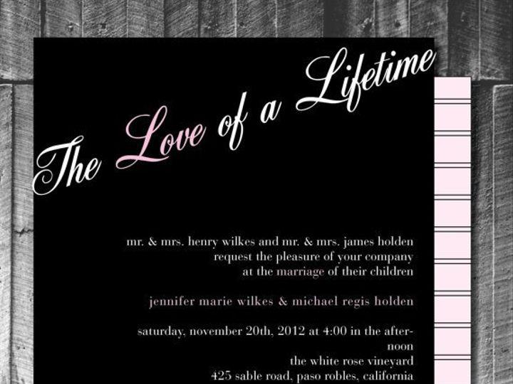 Tmx 1364407823924 Pinkwhiteblackinvite Fresno wedding invitation