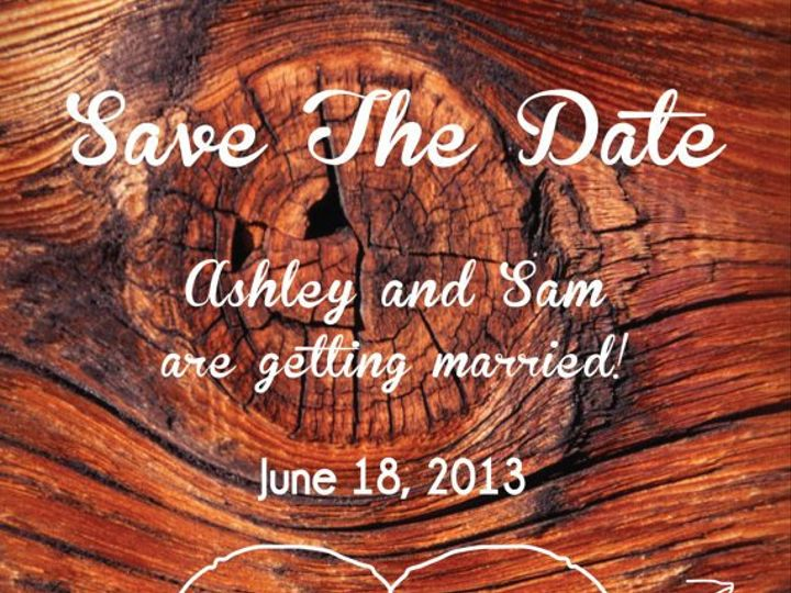Tmx 1364407840744 Woodsavethedate Fresno wedding invitation