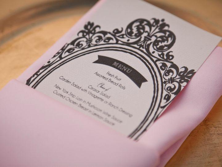 Tmx 1370371527986 Menu Close Up Fresno wedding invitation
