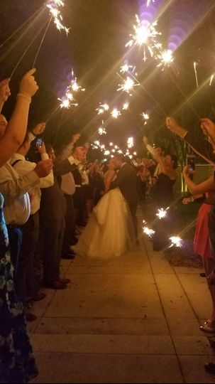 Sparklers at the Garden Gate