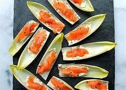 Smoked Salmon on Endive