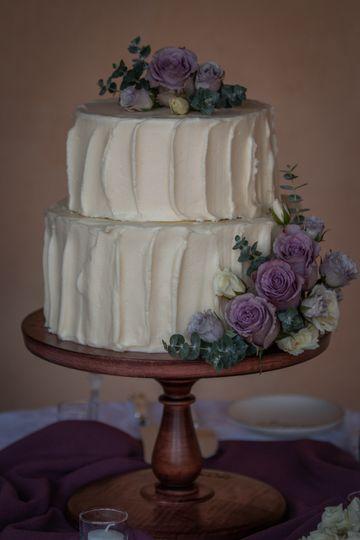 Classic white buttercream cake