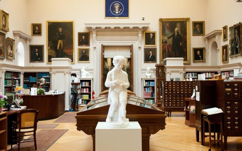 Statue in the library