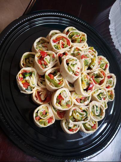 Vegetarian pinwheels