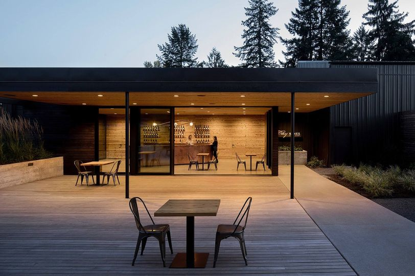 Outdoor seating area.