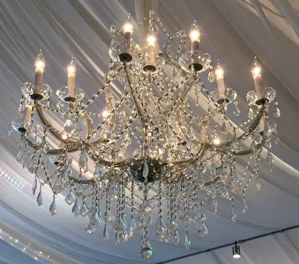 These gorgeous chandeliers added upscaled elegance!