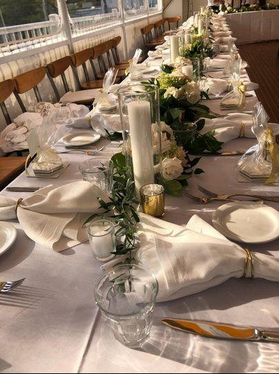 Wedding reception settings