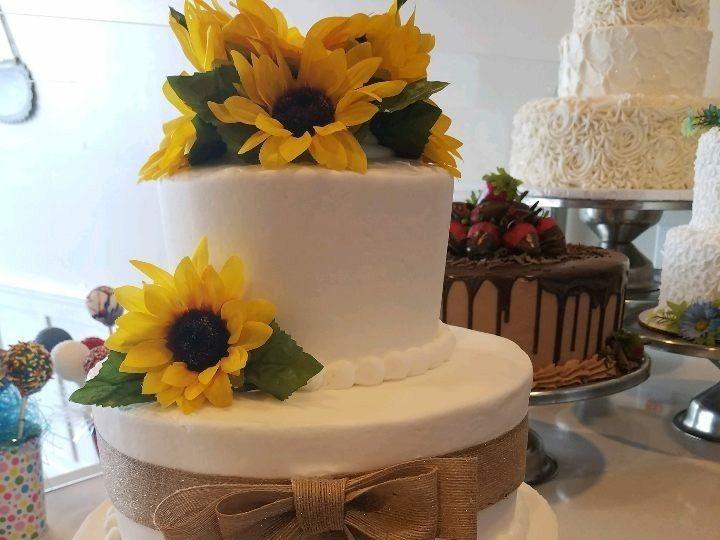 Tmx 1514965709980 Img686575725 Papillion wedding cake