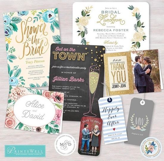 Save the dates, shower invites
