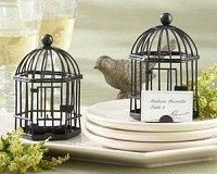 """LOVE SONGS"" Bird Cage Tea Light Place card Holder, perfect for your Garden Wedding or a Vintage..."