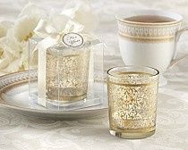 """Golden Renaissance"" Tealight holders in gift box with Thank You tag"