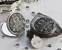 VINTAGE STYLE MIRRORED COMPACTS, PERFECT FOR BRIDESMAIDS GIFTS, BRIDAL SHOWER FAVORS OR A GIRL