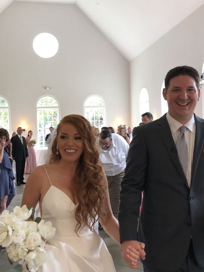 A beautiful and happy bride