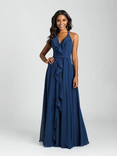 Blue dress for bridesmaid