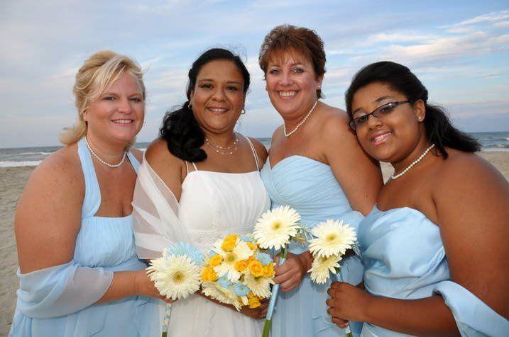 Happy bride and bridesmaids!