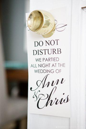 Custom Wedding Doorhanger