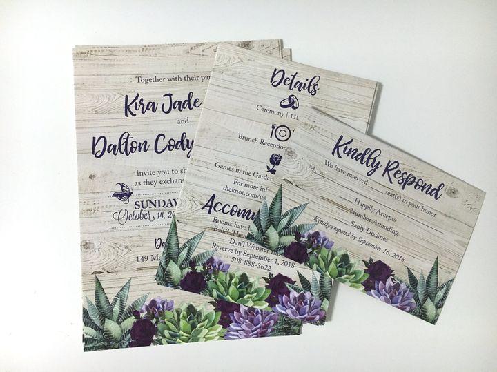 Succulent & Floral Invitation