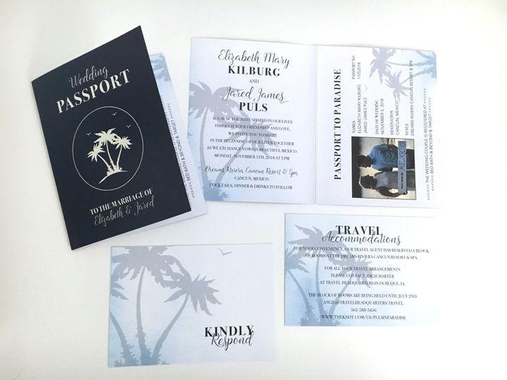 Tmx Passportinvite00007 51 676979 Cedar Rapids, Iowa wedding invitation