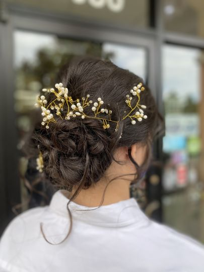 Bridal updo by Claudia