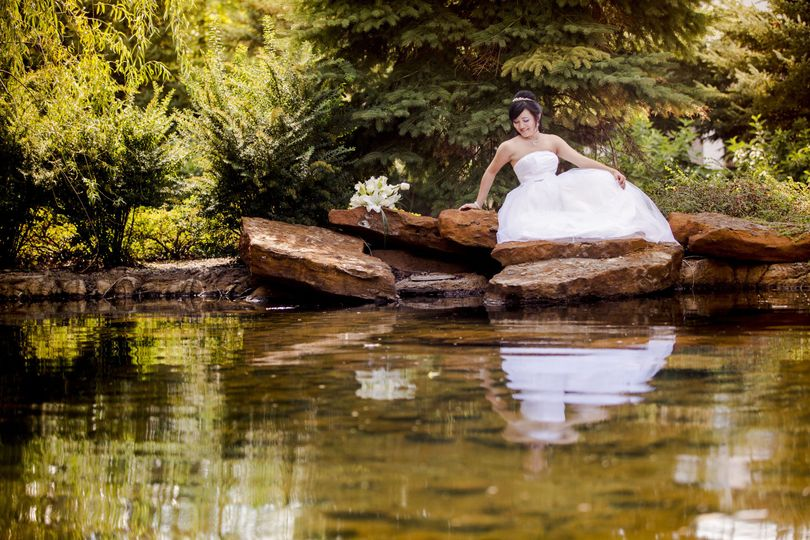 lodge bride reflection