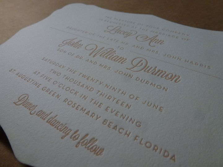 Custom die-cut invitations
