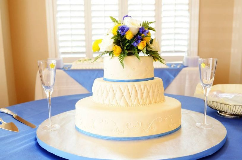 Oval tiered Cake