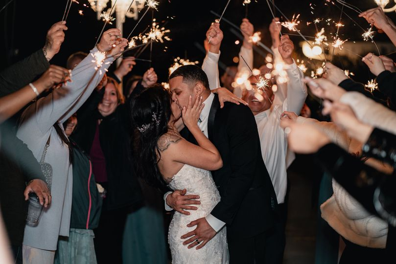 We love a good sparkler exit!