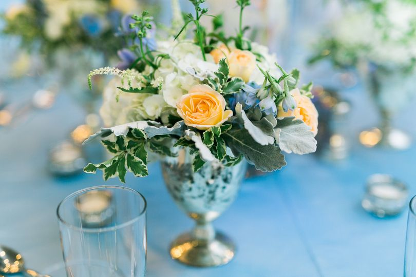 blue silver wedding st simons island heather kyle