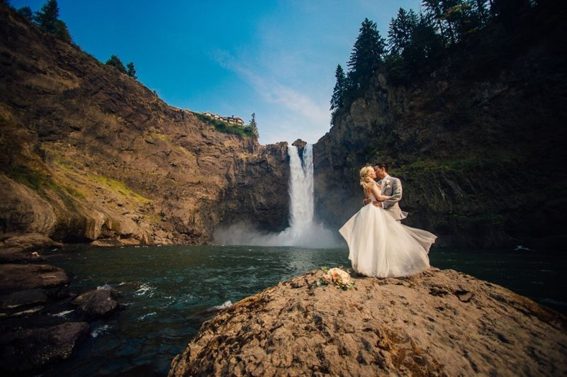 Couple at waterfalls