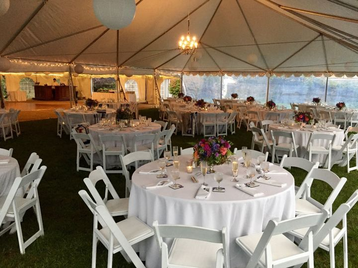 Tent setup and decor