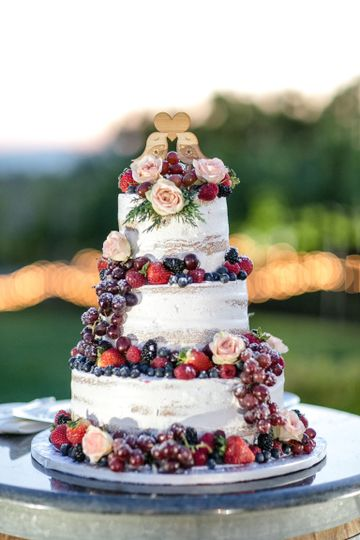 Three tier fruit cake