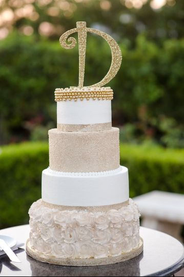 Four tier mocha cake