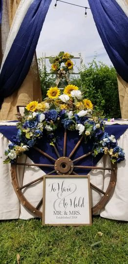 Ranch wedding decor