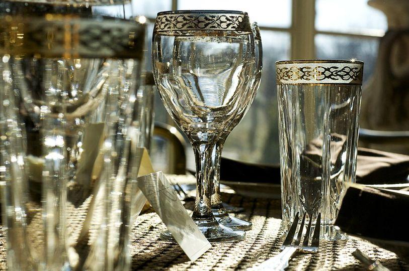 Decadent glassware