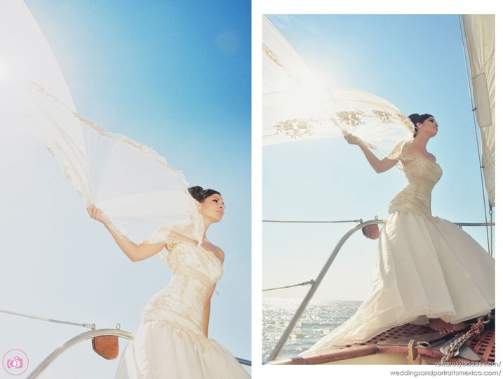 Destination Wedding Photographer in Punta Mita - Sailing Bride
